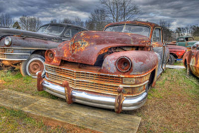Photograph - Graveyard Vehicles by Willie Harper