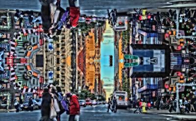 Crosswalk Photograph - Gravity by Dan Sproul