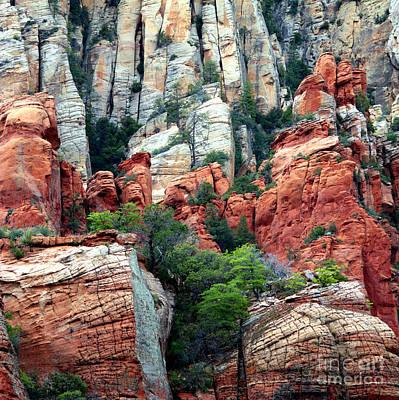 Photograph - Gray And Orange Sedona Cliff by Carol Groenen