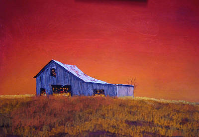Art Print featuring the painting Gray Barn by William Renzulli