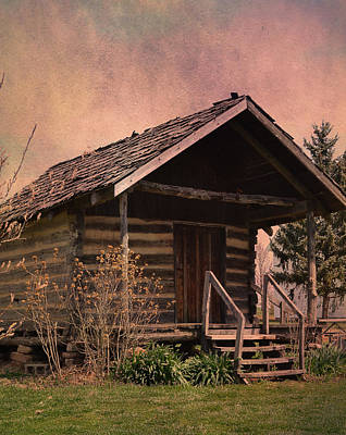 Photograph - Gray Campbell Farmstead Cabin by Deena Stoddard