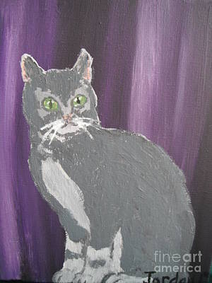 Gray Cat Original by  Jordan Allen