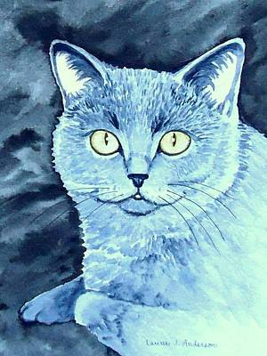Painting - Gray Cat by Laurie Anderson