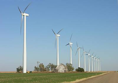Photograph - Gray County Wind Farm by Keith Stokes