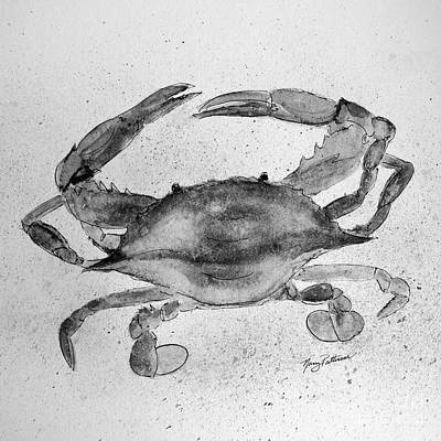 Painting - Gray Crab  by Nancy Patterson