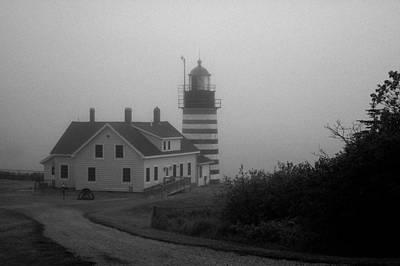 Gray Day In Maine Print by Amanda Kiplinger