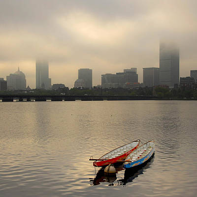 Gray Day On The Charles River Art Print
