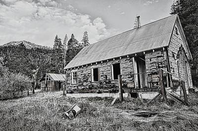 Dilapidated Mixed Media - Gray Dreary Day by Don Bendickson