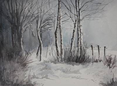 Painting - Gray Forest by Rachel Hames