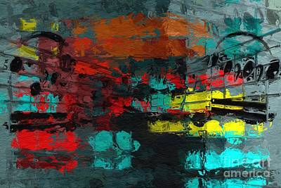 Art Print featuring the digital art Gray Green Intermezzo by Lon Chaffin