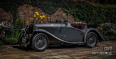 Photograph - Gray Two Seater by Ronald Grogan
