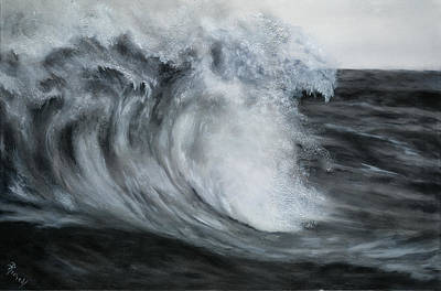Painting - Gray Wave by Suzie Richey