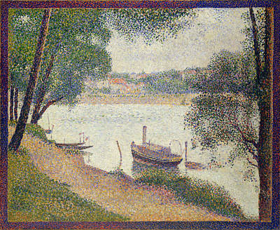 Painting - Gray Weather. Grande Jatte by Georges Seurat
