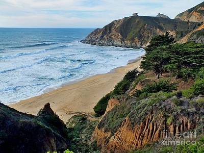 Seascape Photograph - Gray Whale Cove State Beach by Scott Cameron