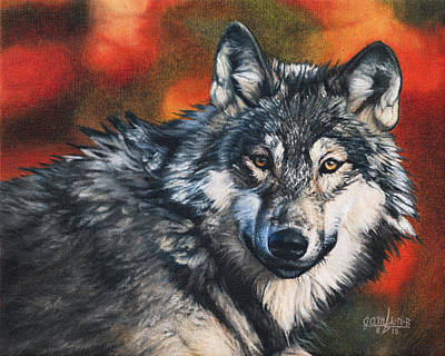 Painting - Gray Wolf by Joshua Martin