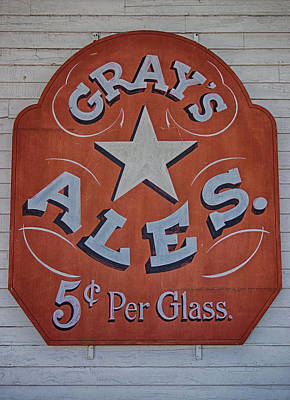 Photograph - Gray's Ales by Ben Shields