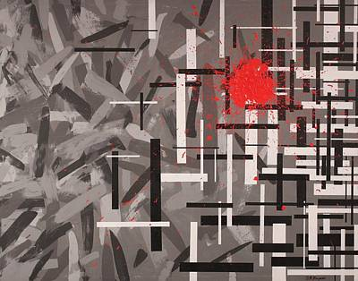 Bloodshed Painting - Grays And The Bloodshed Of Structure  by David Mayeau