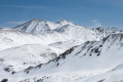 Photograph - Grays And Torreys From Loveland Ski Area by Aaron Spong