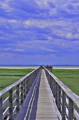 Photograph - Gray's Beach Boardwalk Yarmouth by Allen Beatty