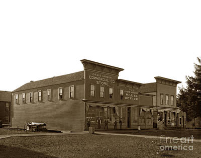 Photograph - Grays Harbor Commercial Co. Store And Mill Co.  Office Circa 1895 by California Views Mr Pat Hathaway Archives