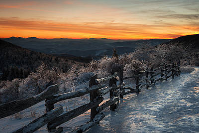 Photograph - Grayson Highlands Sunset by Bernard Chen