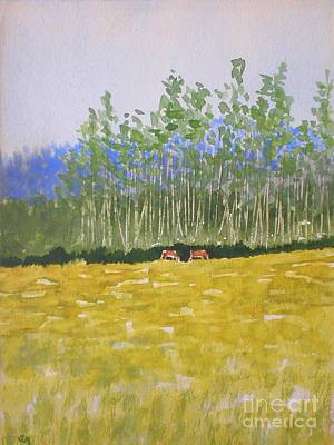 Painting - Grazin In The Grass by Suzanne McKay