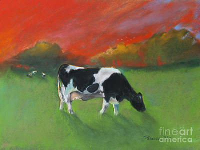 Pastel - Grazing Cow by Robin Maria Pedrero