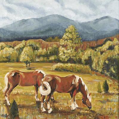 Pikes Peak Colorado Painting - Grazing by David  Llanos