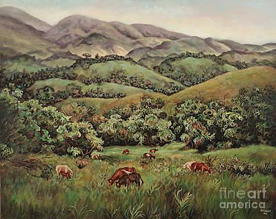 Painting - Grazing by Ewan  McAnuff