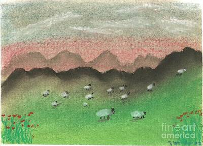 Grazing In The Hills Art Print