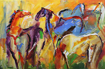 Pace Painting - Grazing by Laurie Pace