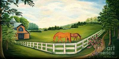 Painting - Grazing On The Farm by Shelia Kempf