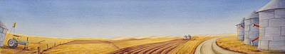 High Plains Painting - Grazing by Scott Kirby