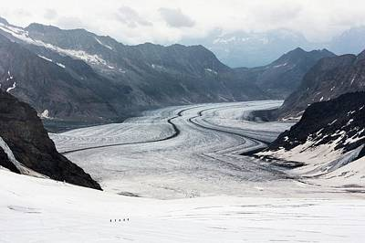Great Aletsch Glacier Art Print by Dr Juerg Alean