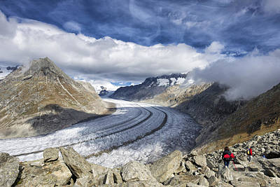 Photograph - Great Aletsch Glacier Swiss Alps Switzerland Europe by Matthias Hauser