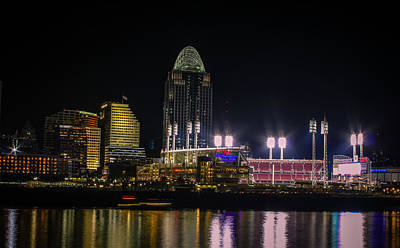 Great American Ball Park Art Print by Cathy Donohoue