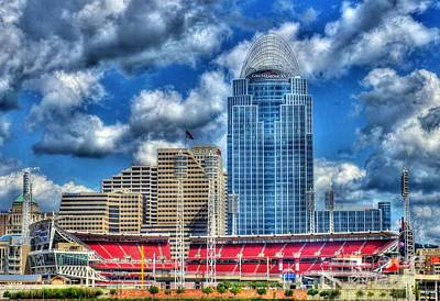 Great American Ballpark Art Print by Mel Steinhauer