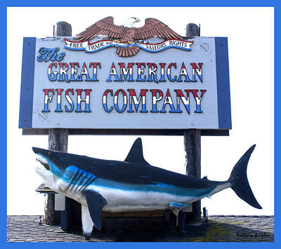 Great American Fish Company Blue Art Print