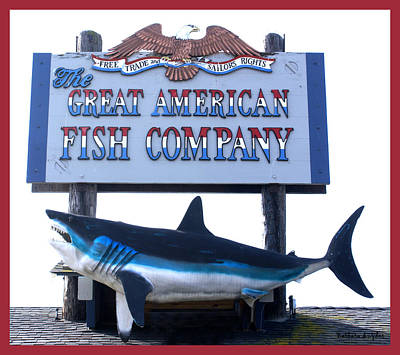 Great American Fish Company Red Print by Barbara Snyder
