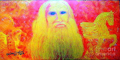 Painting - Great Artists Leonardo Da Vinci 1 by Richard W Linford