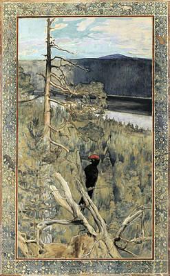 Great Black Woodpecker Art Print by Akseli Gallen-Kallela