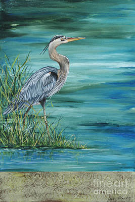 Trout Streams Painting - Great Blue Heron  2 by Jean Plout