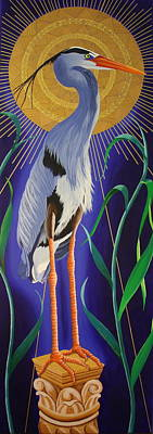 Painting - Great Blue Heron by Amanda  Lynne