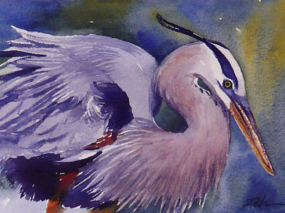 Painting - Great Blue Heron by Janet  Zeh