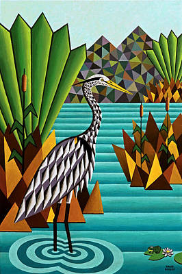 Great Blue Heron Art Print by Bruce Bodden