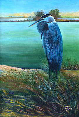 Painting - Great Blue Heron by Denise Wagner