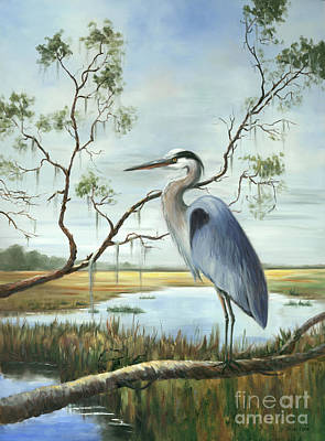 Painting - Great Blue Heron by Glenda Cason