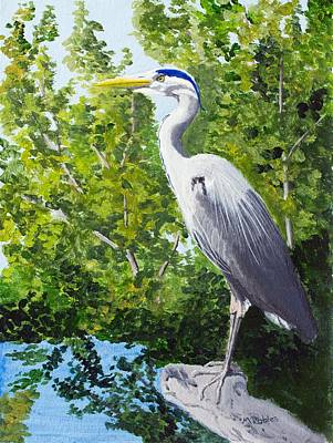 Painting - Great Blue Heron by Mike Robles