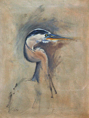 Painting - Great Blue Heron by Neil Rizos