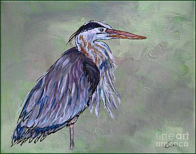 Painting - Great Blue Heron Painting by Ella Kaye Dickey